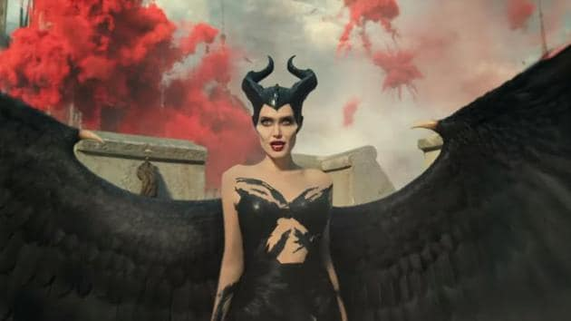 Angelina Jolie in her stylish new outfit in Maleficent: Mistress of Evil.