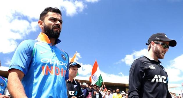 India vs New Zealand semi-final 1 of World Cup 2019: India captain Virat Kohli and New Zealand captain Kane Williamson(Getty Images)