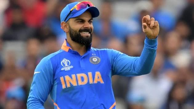 Virat Kohli in action during the ICC World Cup 2019 semifinal between India and New Zealand.(AFP)