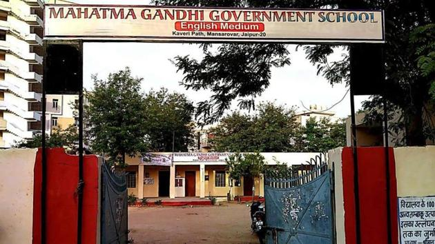 A Mahatma Gandhi government English medium school has been established in each of the 33 districts in the state.(HT Photo)