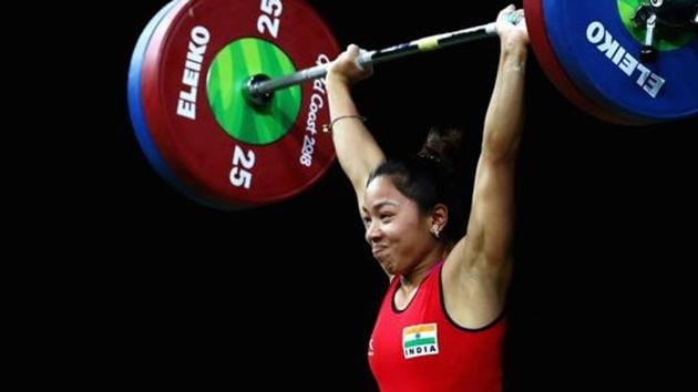 File image of Indian weightlifter Mirabai Chanu.(Getty Images)