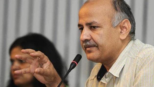 Delhi's deputy chief minister Manish Sisodia(Hindustan Times)