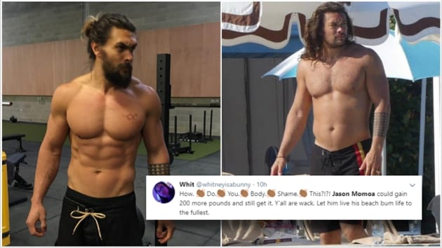 Some people thought Jason Momoa has a dad bod now.