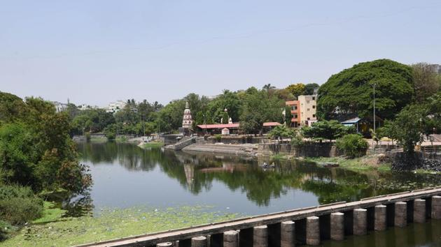 The interim lines will be mapped in consultation with local residents and officials on the basis of an 'observed flood line' of that river. A picture of Pawana river at Chinchwad in Pune.(HT PHOTO)