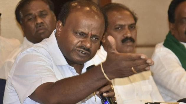 Karnataka Chief Minister HD Kumaraswamy on Thursday rejected the opposition BJP's demand for him to quit.(PTI File Photo)