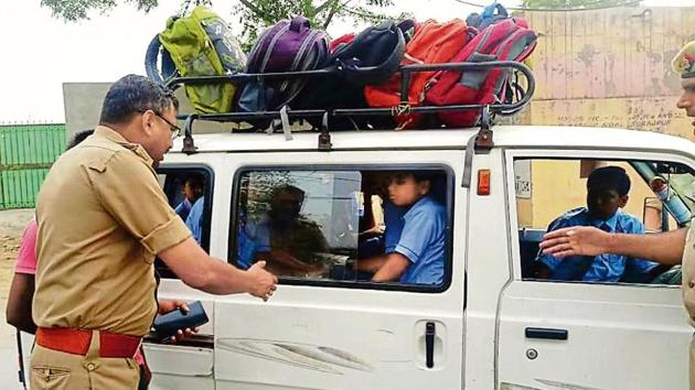 Noida traffic police has also issued an advisory to install speed governors on buses and vans.(Sourced)