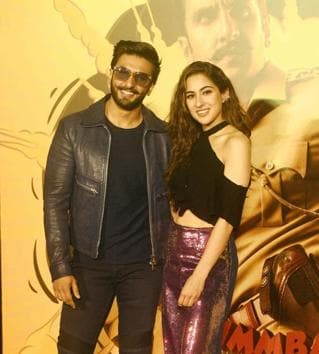 Ranveer Singh and Sara Ali Khan, amid numerous other stars, are playing games like What If and Never Have I Ever, during film promotion interviews.(HT File Photo)
