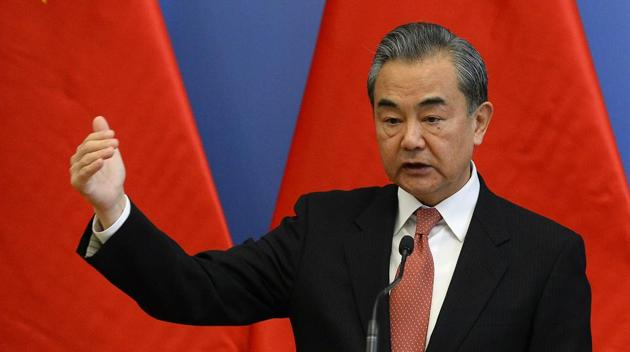 """China's top diplomat Wang Yi warned the United States on Friday that it should """"not play with fire"""" on the question of Taiwan, expressing anger about a planned U.S. arms sale.(AP Photo)"""