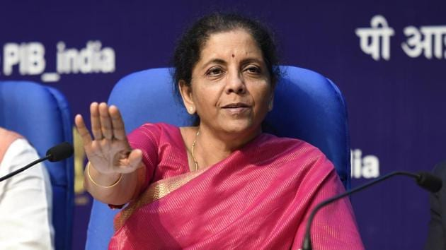 Nirmala Sitharaman listed out various measures to spur investment, raise household savings and achieve the mid-term goal of India becoming a $5 trillion economy.(Arvind Yadav/HT PHOTO)
