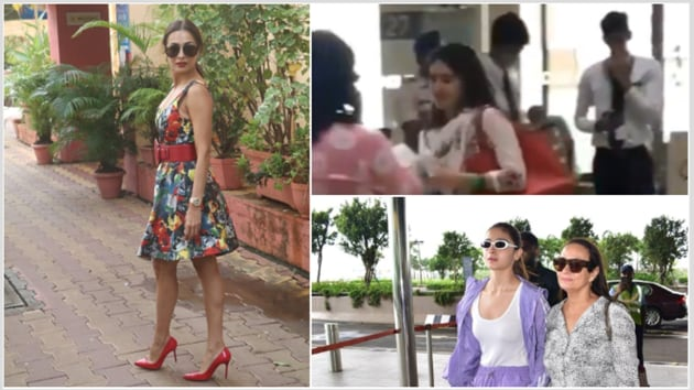 Sara Ali Khan seen running at the airport, Alia Bhatt and Soni Razdan leave