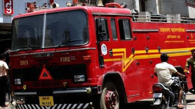 A fire broke out on the sixth floor of the State Bank of India (SBI) building on Sansad Marg here on Thursday.(HT File Photo)