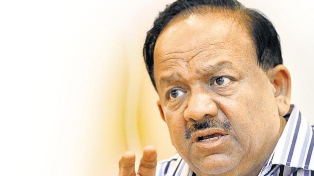 Union Minister Dr Harsh Vardhan had to tackle Nipah cases being confirmed in Kerala.(Raj K Raj/ Hindustan Times)