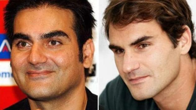 Arbaaz Khan known how people think he looks like tennis legend Roger Federer.