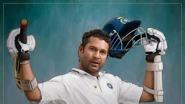 ICC pays tribute to Sachin Tendulkar on the occasion of him being inducted in ICC's Hall of Fame.(Twitter/ICC)