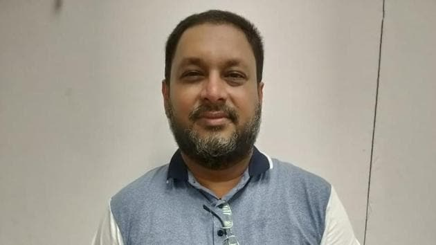Mohammed Mansoor Khan the absconding founder of I Monetary Advisory (IMA), the firm that is embroiled in a multi-crore scam, was arrested in New Delhi(Bengaluru Police)