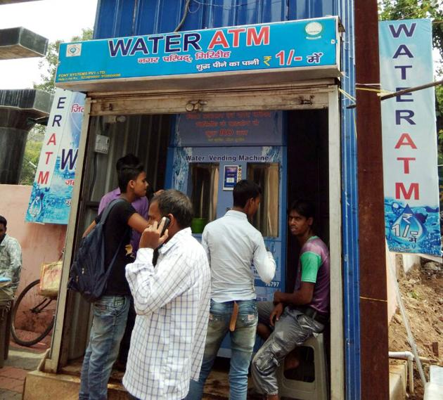 The BMC chief has asked officials to identify five spots where the water vending machines can be set up.(HT File)