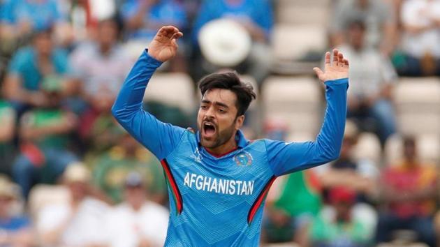 Cricket - ICC Cricket World Cup - Bangladesh v Afghanistan - The Ageas Bowl, Southampton, Britain - June 24, 2019 Afghanistan's Rashid Khan reacts Action Images via Reuters/John Sibley/Files(Action Images via Reuters)