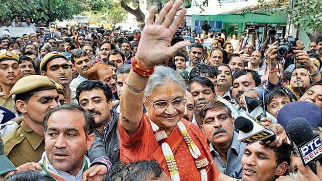 Former Delhi chief minister Sheila Dikshit passed away on Saturday.(Mohd Zakir / HT Archive)