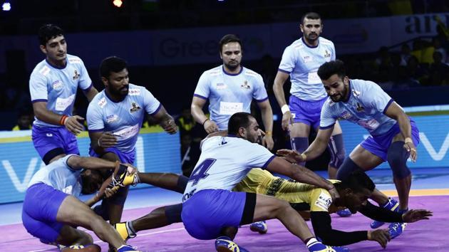 Tamil Thalaivas vs Telegu Titans Pro Kabaddi match(PKL)