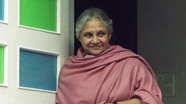 Former chief minister of Delhi Sheila Dikshit.(Kaushik Ramaswamy / HT Archive)
