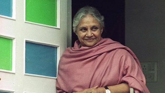 Sheila Dikshit, former Delhi chief minister, died at a private hospital in the national Capital on Saturday. She was 81 years old.(Kaushik Ramaswamy / HT Archive)