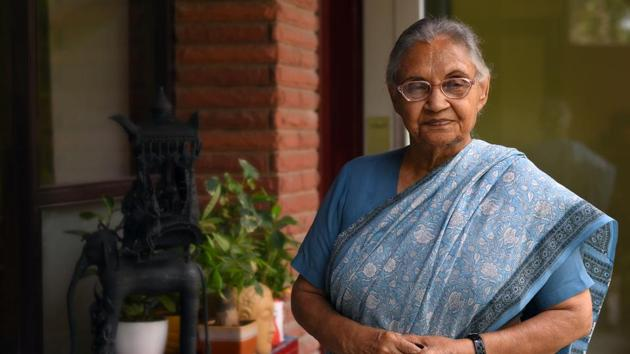 Former Chief Minister of Delhi Sheila Dikshit passed away after a massive cardiac arrest.(Amal KS/HT PHOTO)