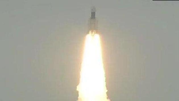Indian Space Research Organisation (Isro) launched its second moon mission, Chandrayaan-2.(Screengrab/ISRO Twitter)