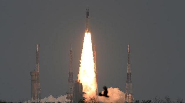 "India launched a bid to become a leading space power on July 22, sending up a rocket to put a craft on the surface of the Moon in what it called a ""historic day"" for the nation.(AFP)"