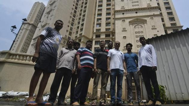 Residents of the Hiranandani Heritage in Kandivli (West) have also taken efforts to reduce excess wastage of water.(Shashi S Kashyap/HT)