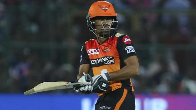 Wriddhiman Saha in action during the 2019 Indian Premier League.(AP)