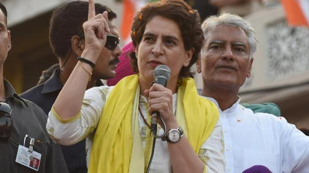 Congress general secretary Priyanka Gandhi Vadra said one day the BJP will discover that everything cannot be bought, everyone cannot be bullied and every lie is eventually exposed.(Sameer Sehgal/HT Photo)