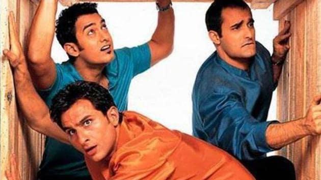 Dil Chahta Hai starring Aamir Khan, Akshaye Khanna, Saif Ali Khan, Preity Zinta, Dimple Kapadia and Sonali Kulkarni in lead roles.