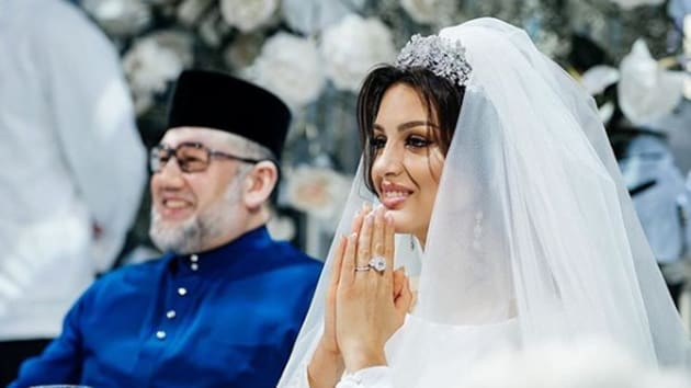 Malaysia's former king has divorced a Russian ex-beauty queen just months after news of their wedding emerged and he abdicated in a first for the country.(Photo instagram by sultanmuhammadv)
