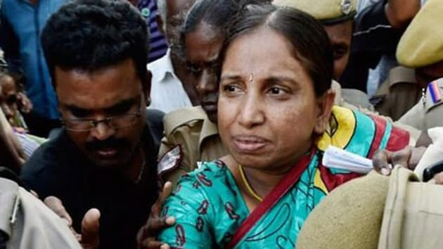 In the High Court, Nalini had sought six months' parole. During the 28 years of her incarceration, she had availed only a day's parole that too to attend the post-funeral rites of her father. (HT Photo)