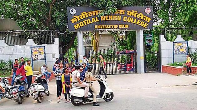 Teams of women officers on scooters would look for cases of ragging or stalking by students as well as outsiders.(HT Photo)