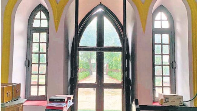 The Church of Epiphany in Gurugram's Civil Lines.(HT Photo)