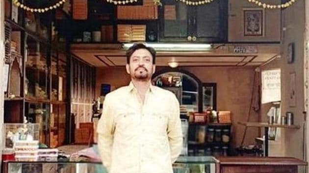 Irrfan Khan in a first look poster for Angrezi Medium.(Twitter)