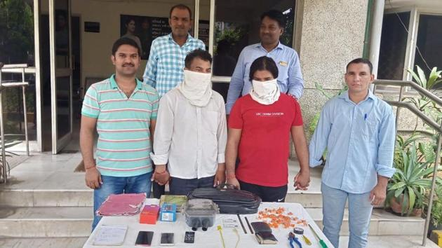 The arrest of the two men led to the recovery of fake BSES identity cards, broken seals of 42 electricity meters and tools used for breaking or uprooting metres.(SOURCE: DELHI POLICE.)