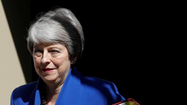 Outgoing British Prime Minister Theresa May formally tendered her resignation to Queen Elizabeth II.(REUTERS Photo)