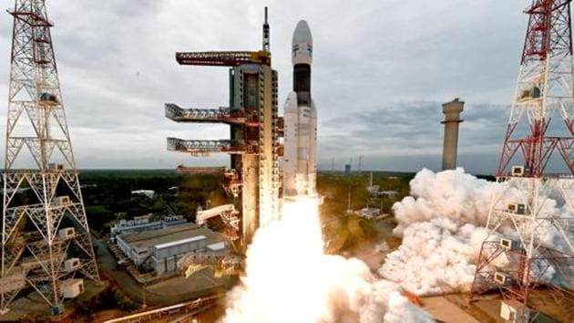 India's Geosynchronous Satellite Launch Vehicle Mk III-M1 blasts off carrying Chandrayaan-2 from the Satish Dhawan space centre at Sriharikota, India, July 22, 2019.(Photo: Reuters)