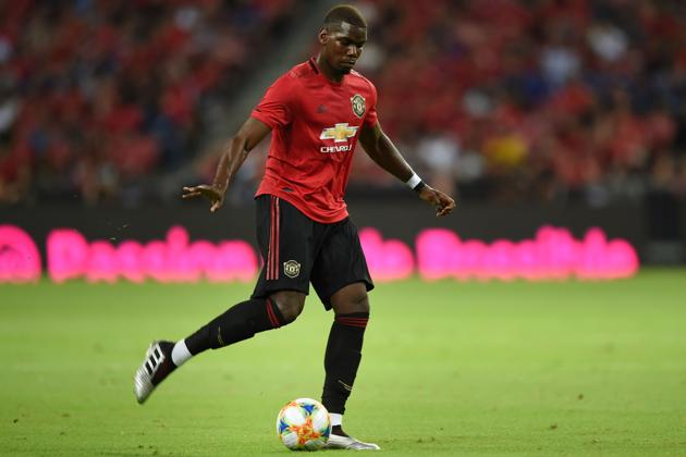 Paul Pogba during the International Champions Cup football match between Manchester United and Inter Milan in Singapore.(AFP)