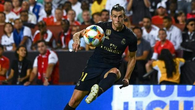 Gareth Bale in action during the International Champions Cup football match between Real Madrid and Arsenal.(AFP)