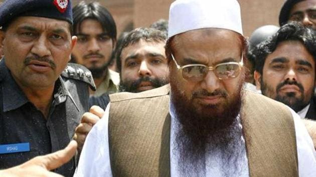 An Anti-Terrorism Court in Pakistan's Gujranwala on Wednesday extended Mumbai terror attack mastermind Hafiz Saeed's judicial remand for another 14 days.(Reuters Photo)