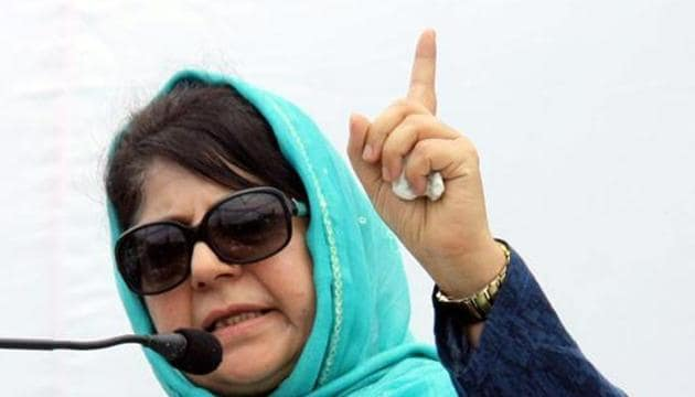 People's Democratic Party (PDP) President and former Jammu and Kashmir Chief Minister Mehbooba Mufti is scheduled to address the party's workers at a rally in Srinagar on Sunday to mark the party's 20th foundation day.(HT PHOTO)