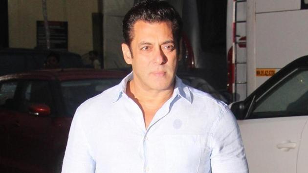 Actor Salman Khan at the screening of his film Bharat.(IANS)
