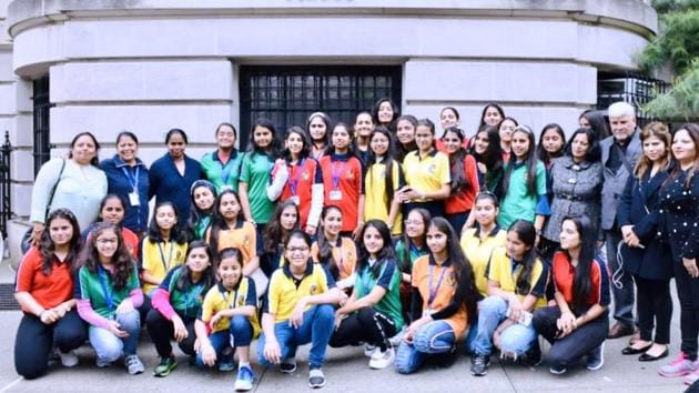 Students and staff of Holy Child Sr Sec School, Tagore Garden, went on the excursion(HT)