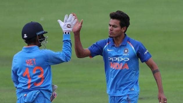 Rahul Chahar celebrates a wicket(Twitter)