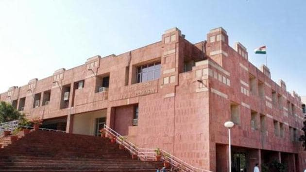 Administrative office of JNU, in the capital.(HT Photo)