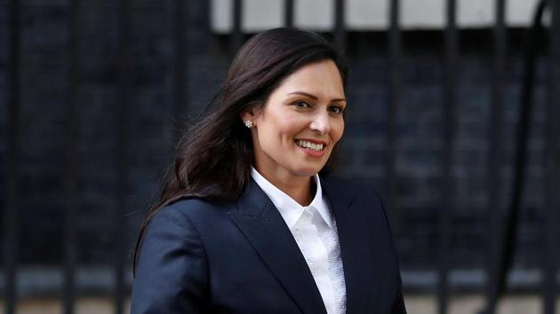 Newly appointed Britain's Home Secretary Priti Patel leaves Downing Street, in London on July 24, 2019.(Photo: Reuters)