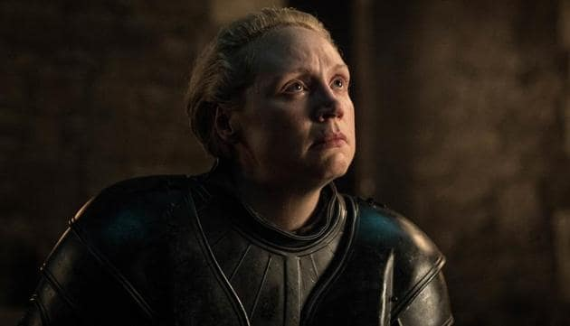 This image released by HBO shows Gwendoline Christie in a scene from Game of Thrones.(AP)